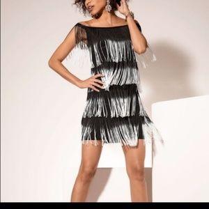 Head Turner Fringe Dress